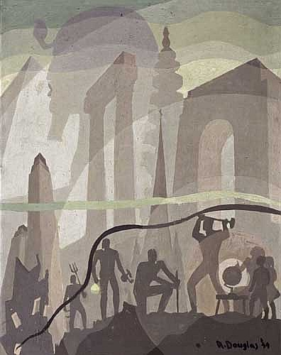 AARON DOUGLAS (1899 - 1979) Building More Stately Mansions.