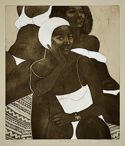 EMMA AMOS (1938 -  ) Sand Tan.