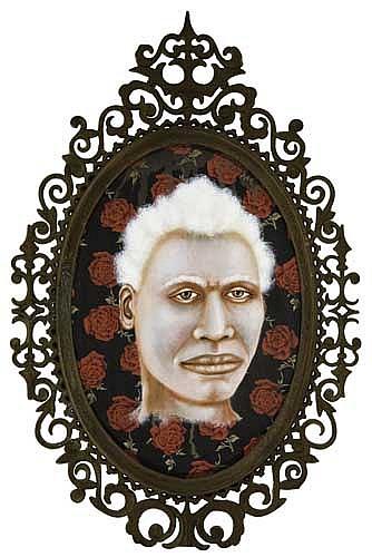 LEZLEY SAAR (1953 -  ) Albino from Kiémon, Côte d'Ivoire.