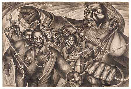CHARLES WHITE (1918 - 1979) Frederick Douglass Lives Again (The Ghost of Frederick Douglass).