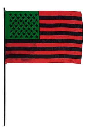 DAVID HAMMONS (1943 -   ) African-American Flag.