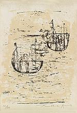 ZAO WOU-KI Les petits bateaux.