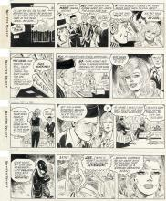 """DALE MESSICK (1906-2005) """"She's going to marry Hennie Horton!"""" [COMICS / BRENDA STARR]"""