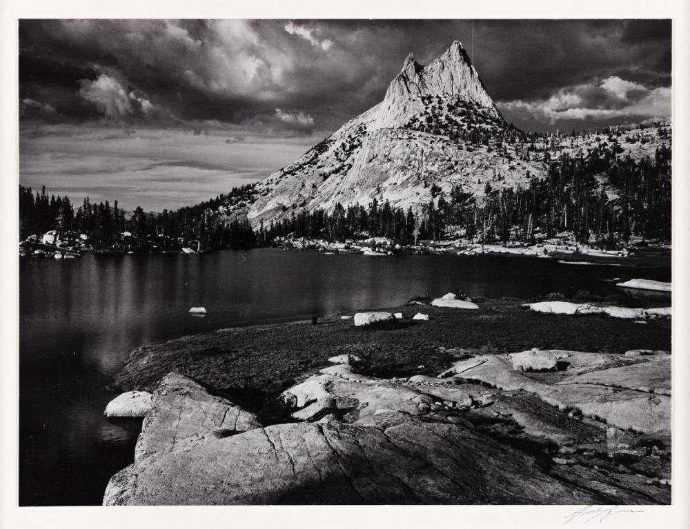 ANSEL ADAMS (1902-1984) Cathedral Peak and Lake, Yosemite National Park, California.