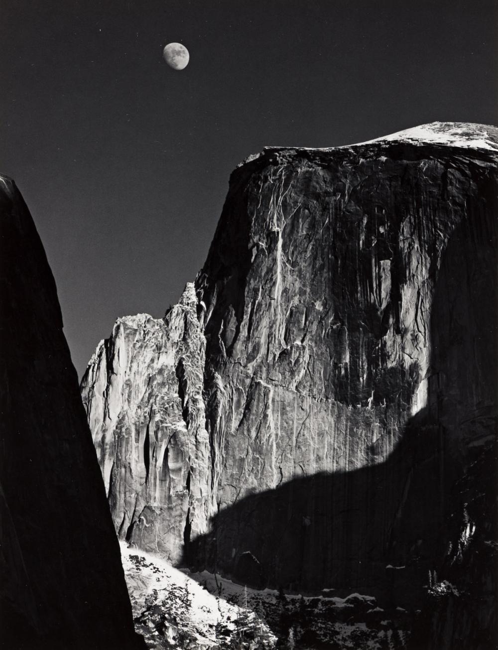 ANSEL ADAMS (1902-1984) Half Dome and Moon.