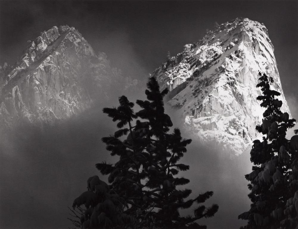 ANSEL ADAMS (1902-1984) Eagle Peak and Middle Brother, Winter, Yosemite National Park, California.