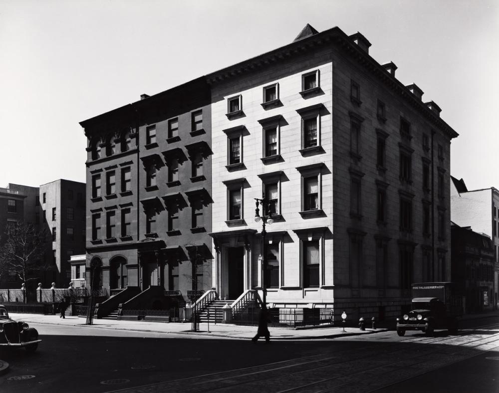 BERENICE ABBOTT (1898-1991) Fifth Avenue Houses, Nos. 4, 6, 8.