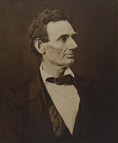 HESLER, ALEXANDER (1823-1895)/AYRES, GEORGE B. (1829-c. 1906) Abraham Lincoln.