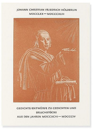 (ANVIL PRESS / VICTOR HAMMER.) Hölderlin, Johann Christian Friedrich. Gedichte . . . CXCVI-MDCCCIV.