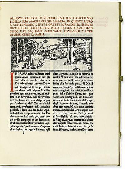 (ASHENDENE PRESS.) Saint Francis of Assisi. Un Mazzetto scelto di certi Fioretti del Glorioso Pavorello di Cristo.