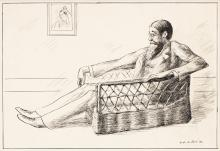 GUY PÈNE DU BOIS (1884-1958) Lytton Strachey. [CARICATURE / LITERATURE / QUEEN VICTORIA]