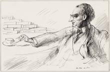 GUY PÈNE DU BOIS (1884-1958) T.S. Eliot / Prufrock. [CARICATURE / LITERATURE]