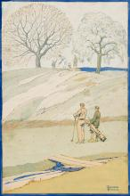 EDWARD PENFIELD (1866-1925) A Golfing Scene in Spring. [GOLF]