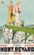 """PAUL ORDNER (1900-1969) """"Mont - Revard."""" [GOLF / POSTERS / FRANCE]"""