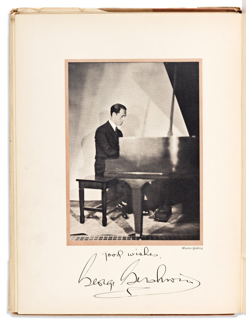 """GERSHWIN, GEORGE. George Gershwin's Song-Book. Signed and Inscribed, """"Good wishes,"""" on frontispiece."""