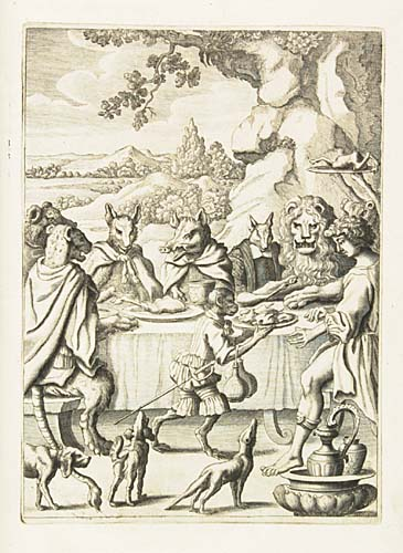 AESOP. The Fables of Aesop Paraphras'd in Verse: Adorn'd with Sculpture, and Illustrated with Annotations. The Second Edition. By John Ogilby,