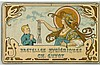 LOUIS-THEOPHILE HINGRE (1932-1911). BRETELLES HYGIÉNIQUES / CH. GUYOT. Window card. Circa 1895. 5x9 inches, 14x23 cm. H. Bernard, Paris, Théophile Hingre, Click for value