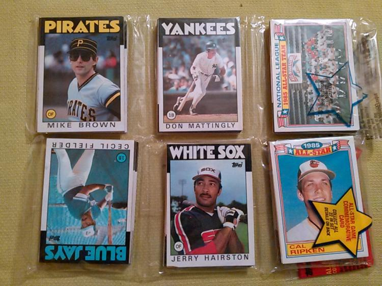 Lot Of 2 1986 Topps Baseball Rack Packs With Don Mattingly A