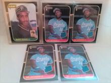 1987 Donruss Barry Bonds and Bo Jackson Baseball card lot