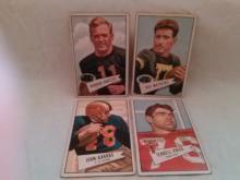 Vintage 1952 Football 4 Card lot