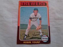 1975 Topps Baseball card Robin Yount Rookie Card #223