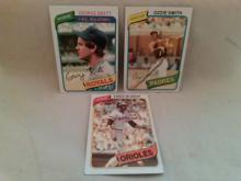 1980 Topps Baseball Card Lot with Ozzie Smith, George Brett and Eddie Murray