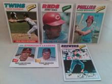 1978 Topps Baseball Card Lot with Johnny Bench, Rod Carew, Mike Schmidt, Robin Yount