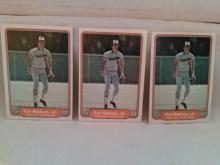 1982 Fleer Cal Ripken Jr Rookie Card Lot of 3