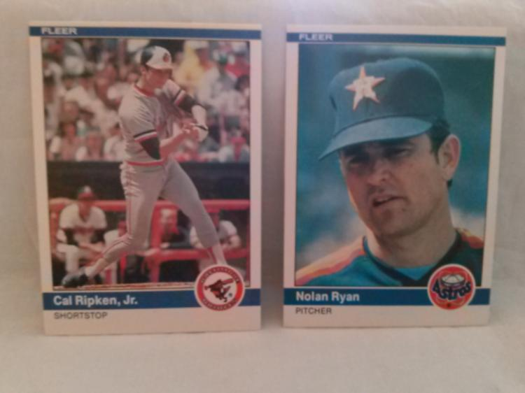 Nolan Ryan And Cal Ripken 1984 Fleer Baseball Cards