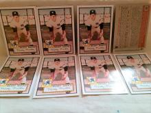 Mickey Mantle Rookie of the week baseball cards