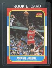 Michael Jordan Fleer Rookie Basketball Card Reprint