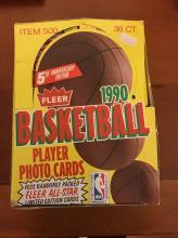 1990 Fleer Basketball Wax box