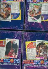 Lot of 4 un-opened boxes of 1990 NBA HOOPS Basketball boxes