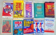 Lot of 10 Un-opened packs of Basketball Cards