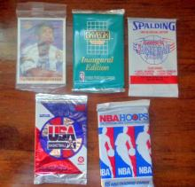Lot of 5 Un-opened packs of Basketball Cards