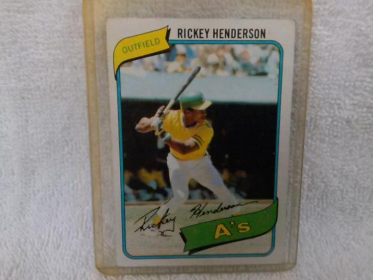 1980 Topps Rickey Henderson Rookie Card 482