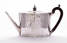 A George III silver teapot, by Charles Aldridge,