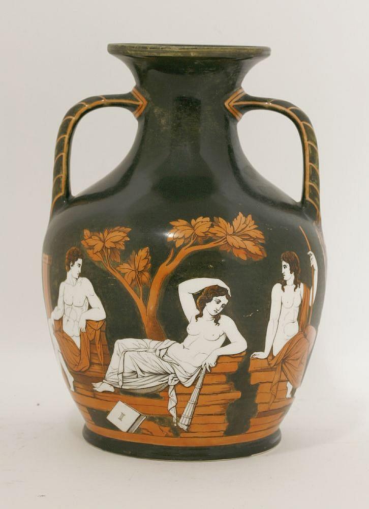 A Samuel Alcock Co Copy Of The Portland Vase