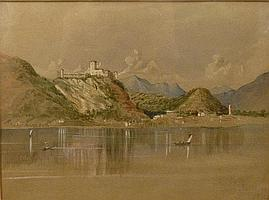 James Fahey (1804-1885), A Lake View with