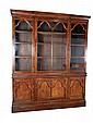 A George III mahogany 'Gothic' bookcase, the