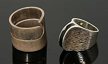A sterling silver band ring, by Kilkenne Designs,