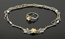 A Continental silver and gold Arts and Crafts