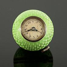 A sterling silver Art Deco globe pendant watch, by