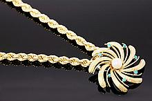 A Continental cultured pearl and turquoise