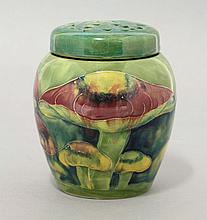 A Moorcroft 'Claremont' pattern potpourri, dated