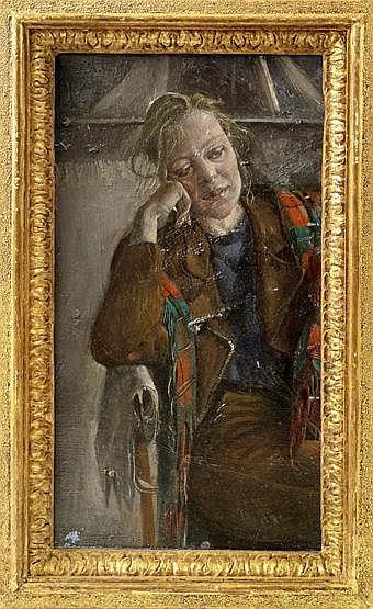 *Sarah Raphael (1960-2001) 'DAISY' Oil on canvas