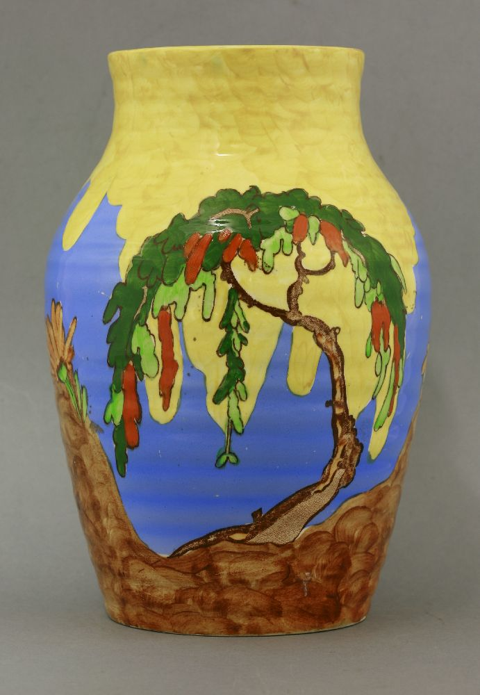 A Wilkinson Royal Staffordshire Pottery Memory Lane Vase