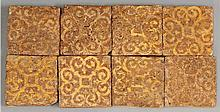 An attractive set of eight encaustic Tiles,