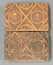 Another pair of terracotta Tiles, 1594, similar, 9