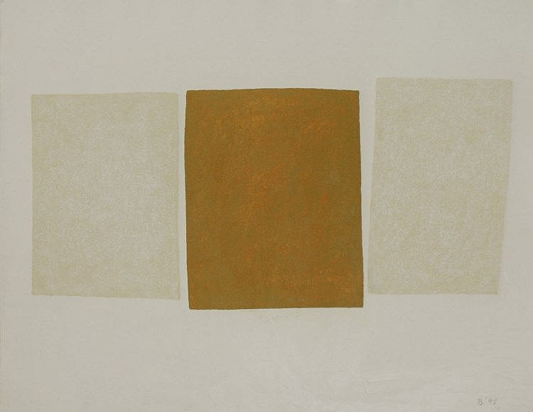 *Brian Blow (1931-2009)  'THREE BLOCKS - YELLOW', 1998  Signed with initials and dated 1998